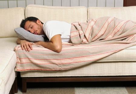 how to sleep well on a couch the morning after